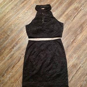 Cocktail skirt matching top